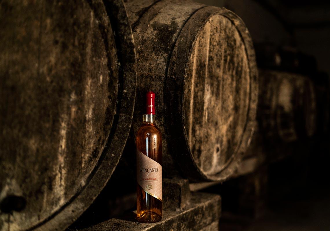 Vinsanto wine barrels