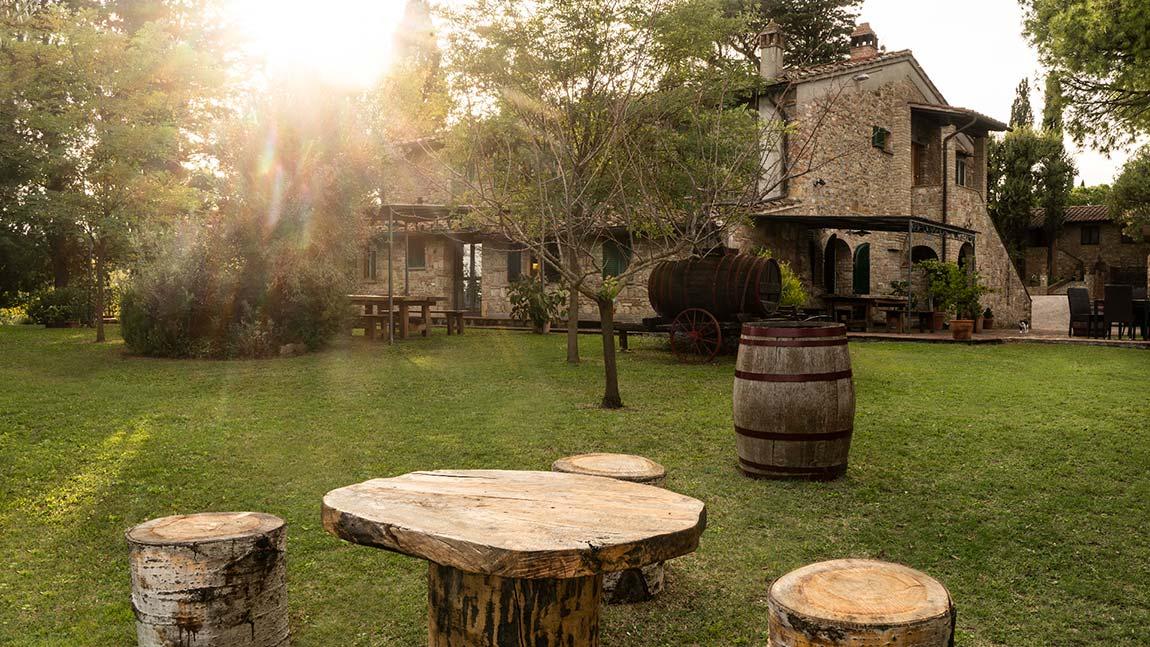 Tamburini estate - the garden