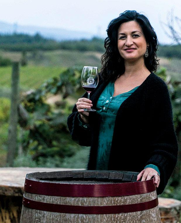 Emanuela Tamburini and vineyards
