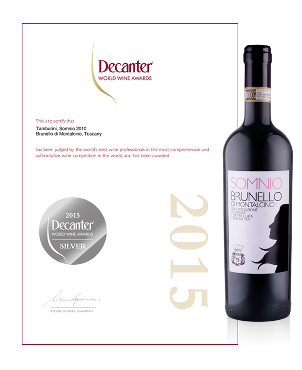 Decante World Wine Awards - Somnio Tamburini