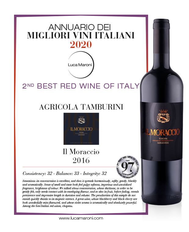 2nd Best Red Wine of Italy - Il Moraccio